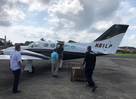 Con la participación de Grupo Domus, 24,646 libras de insumos se han repartido en vuelos humanitario