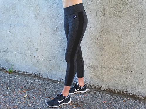 Essential Stripe Leggings - Charcoal/Black
