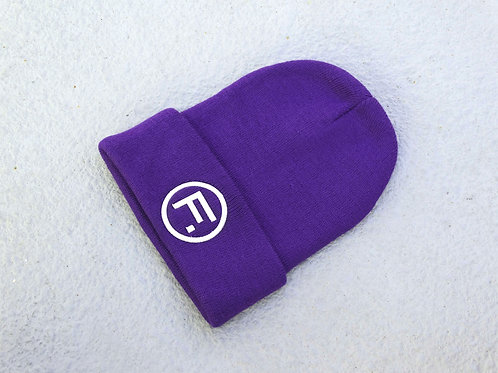 Folded Beanie - Purple/Silver