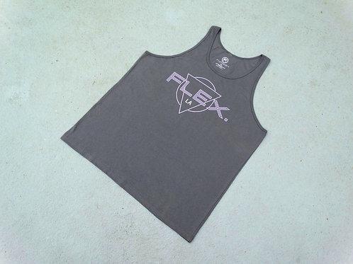 "Unisex Jersey ""Triangle"" Tank - Asphalt"