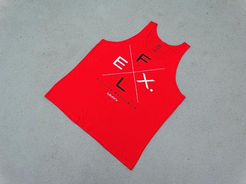 "Unisex Jersey ""X"" Tank - Red"