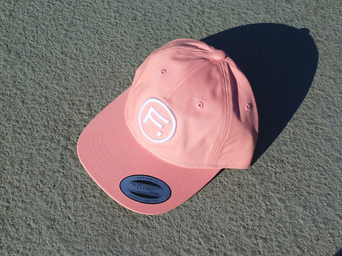 Cotton Twill Dad Hat - Pink Panther/White