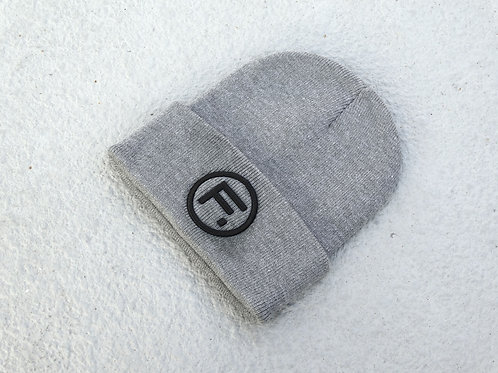 Folded Beanie - Grey/Black