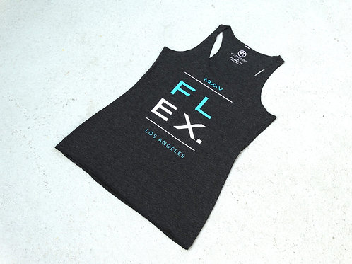 """Women's Fitted Triblend """"Division"""" Racerback - Charcoal"""
