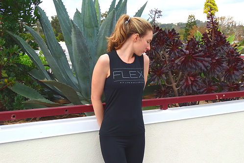 Women's Flowy Muscle Tank - Black