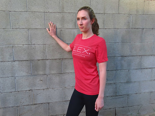 Unisex Triblend Line Text Tee - Red
