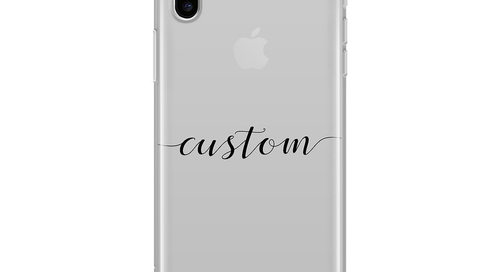 Custom Name iPhone & Samsung Clear Phone Case Cover