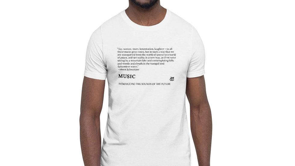 MUSIC GIVES VOICE Short-Sleeve Unisex T-Shirt