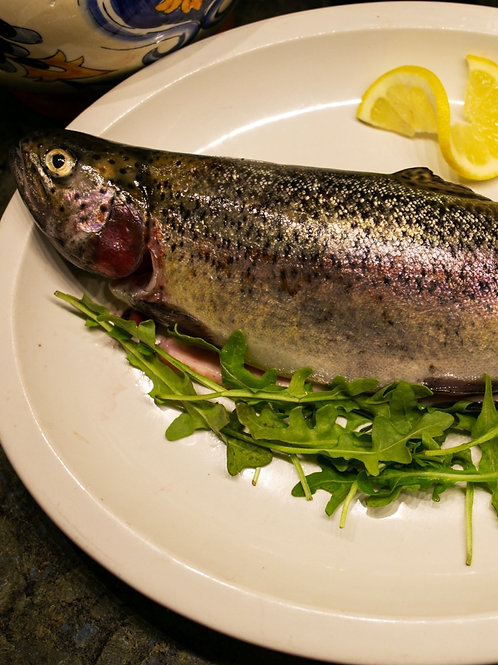 Premium Fresh Whole Rainbow Trout (Price Includes 2 Dressed Trout)