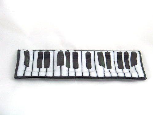 Music three dip plate with fork