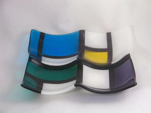 Transparent Modrian quad bowl