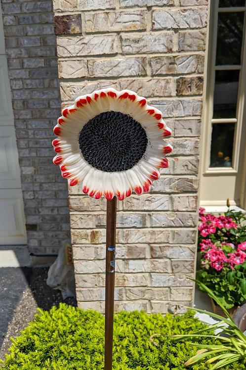 Cast glass sunflower