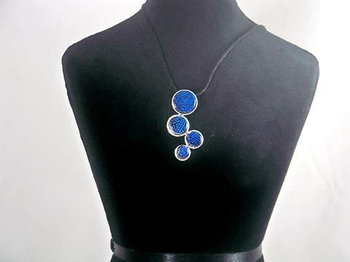 Blue fern dichroic pendant