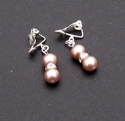 Wedding earrings simulated pearl bridesmaid gift