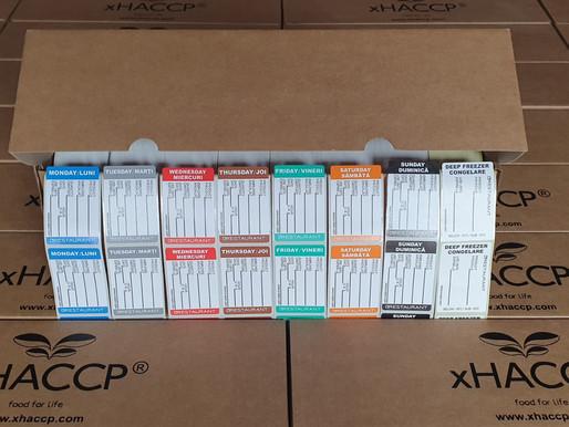Etichete HACCP autoadezive pentru bucătărie de restaurant