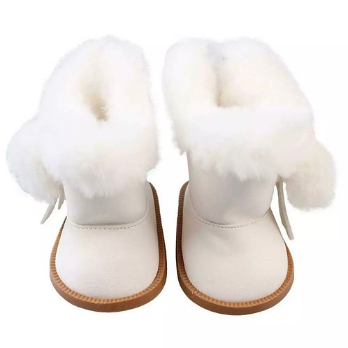 WHITE FLUFFY BIG BOO BOOTS