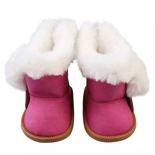 FLUFFY BIG BOO BOOTS PINK