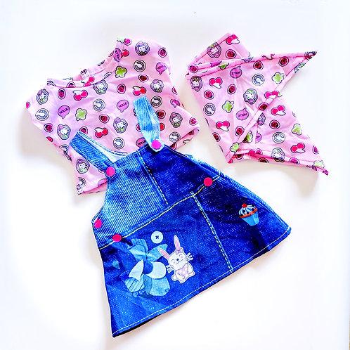 CHEEKY BOO DRESS, TOP & BANDANA