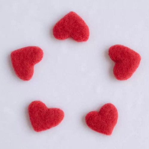 HANDMADE FELT LOVE HEARTS