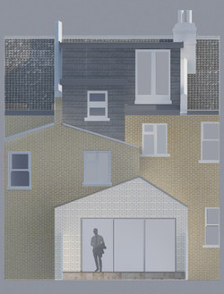White Brick House Extension