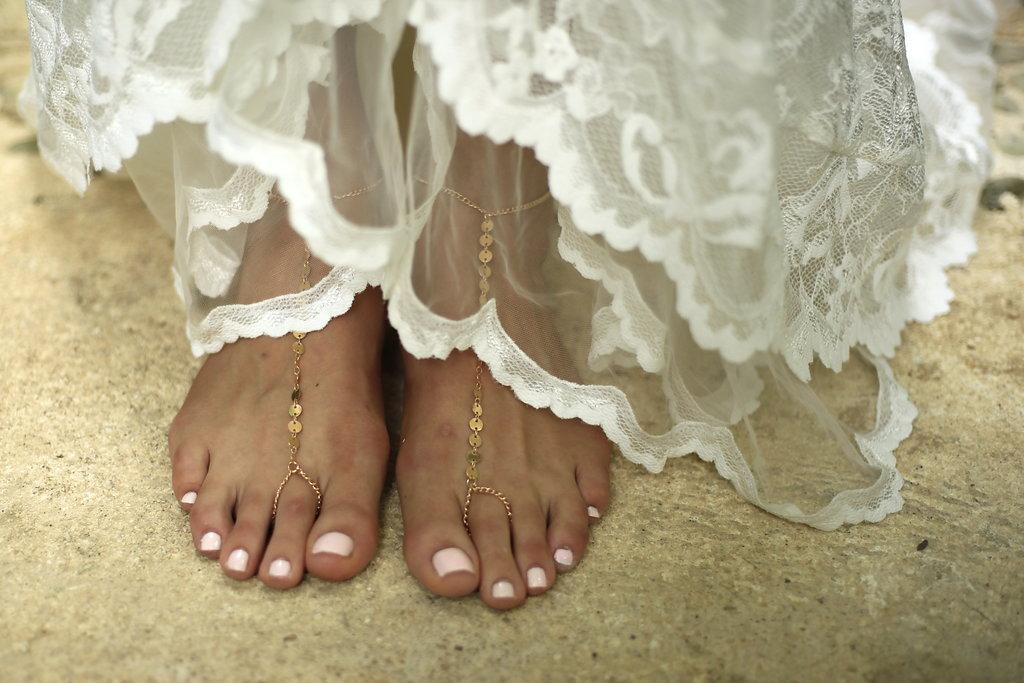 sandy feet wedding