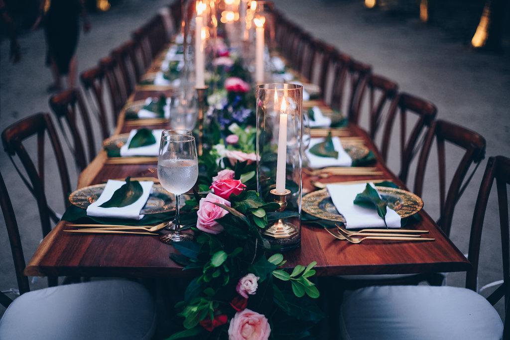 "alt=""Wedding dinner table details"""