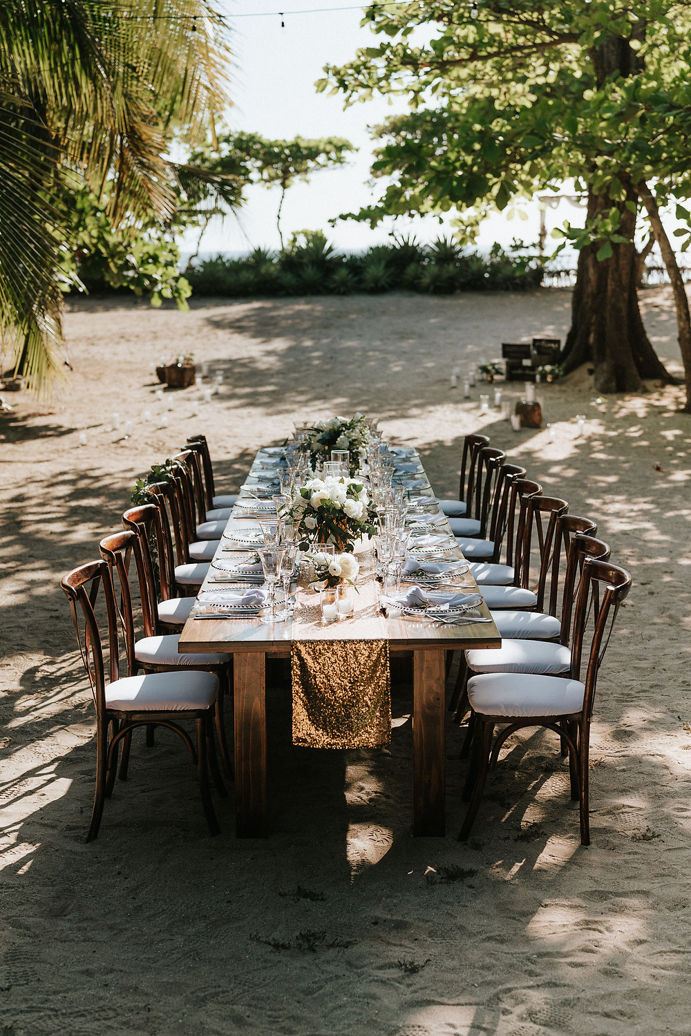 Small intimate wedding table setting