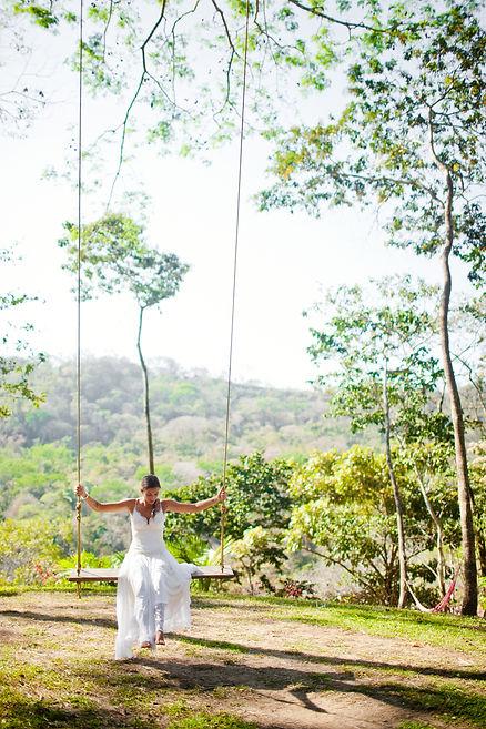 bride in swing