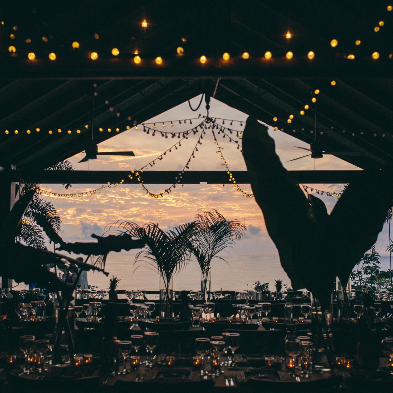 Sunset wedding Costa Rica