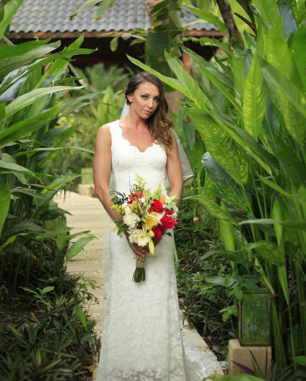 Tropical bride bouquet
