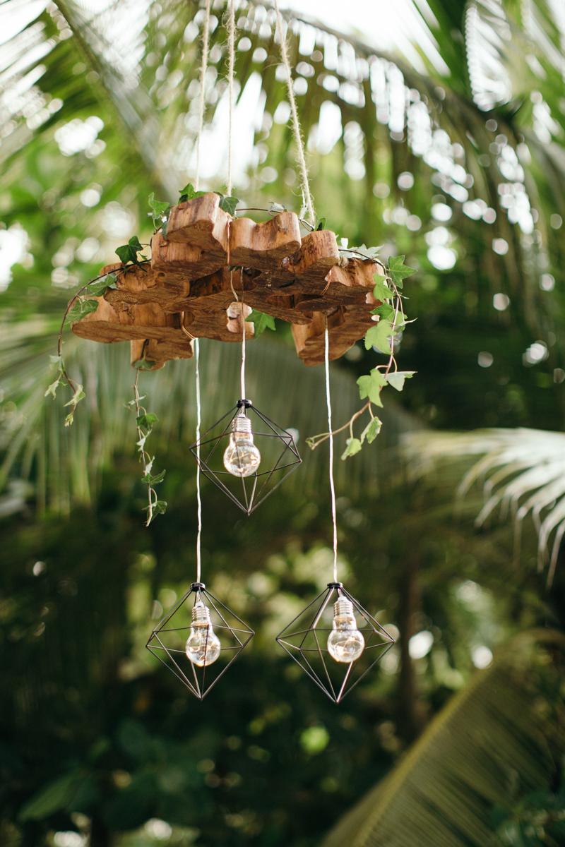 """alt=""""hanging wood and prism lights"""""""