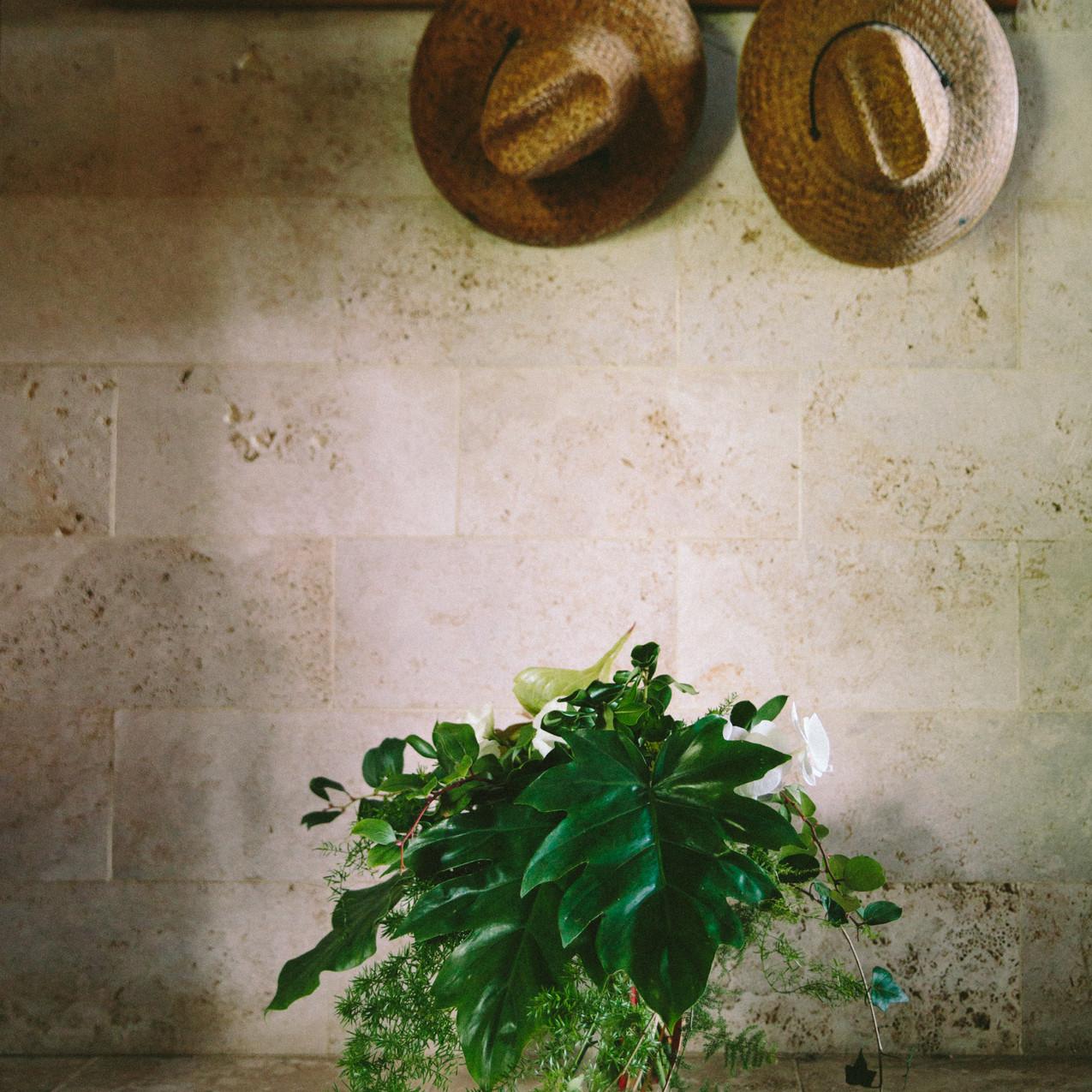 Green bride bouquet