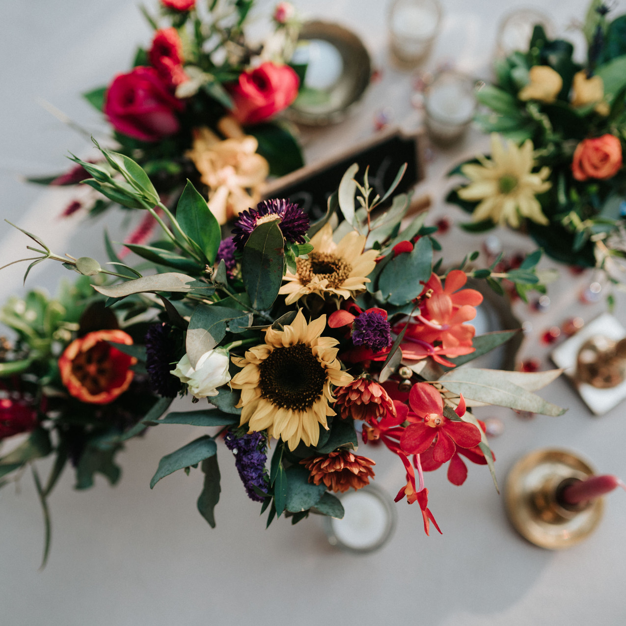 bright flowers for weddings