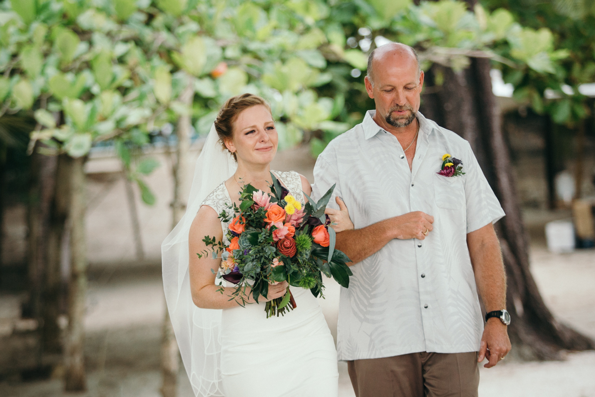 "alt=""bride and father walking down"""