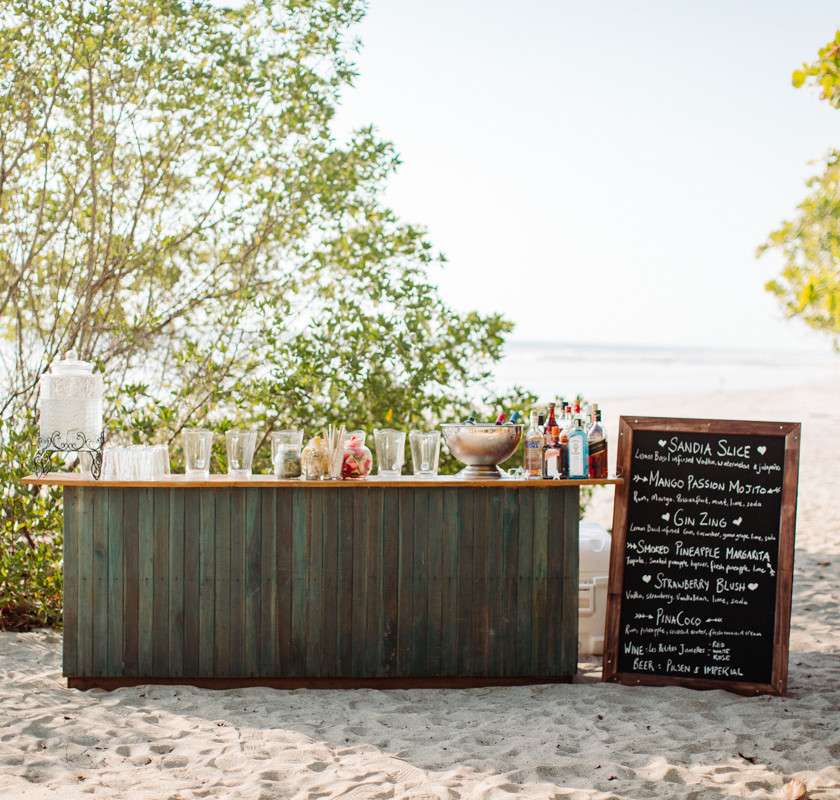 Beach wedding beach bar