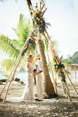 wedding tipi ceremony