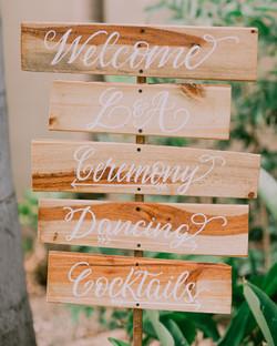 calligraphy wedding signs