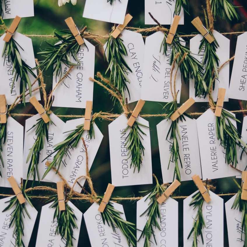 "alt = ""rosemary twigs for names"""