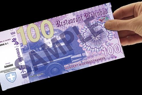 Widenbad Franken Gutschein CHF 100.-
