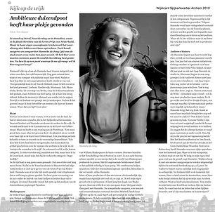 wijkkrant Spijkerkwartier interview Hann