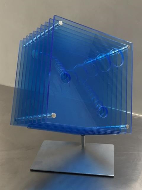 Tunneled Blue Cube II