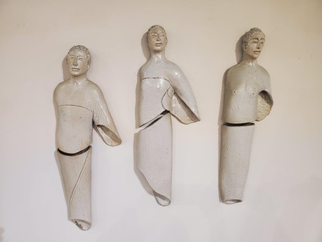 Three Figures in White