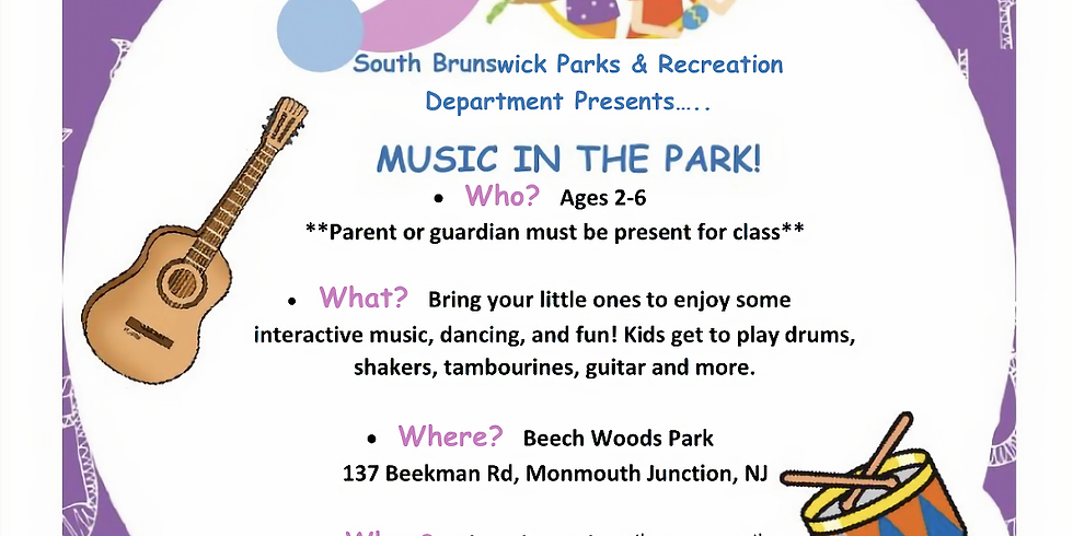 Music in the Park- Kendall Park
