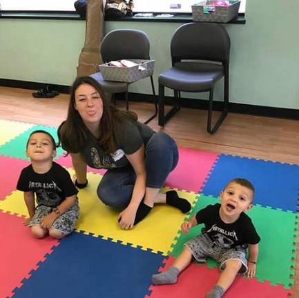 Being silly in our Music & Movement Class at Legacy Life Center!