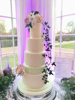 5 tier wedding cake with bespoke bridal