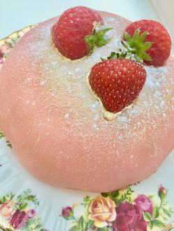Marzipan dome cakes