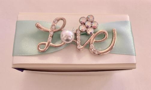 Handmade love wedding favour