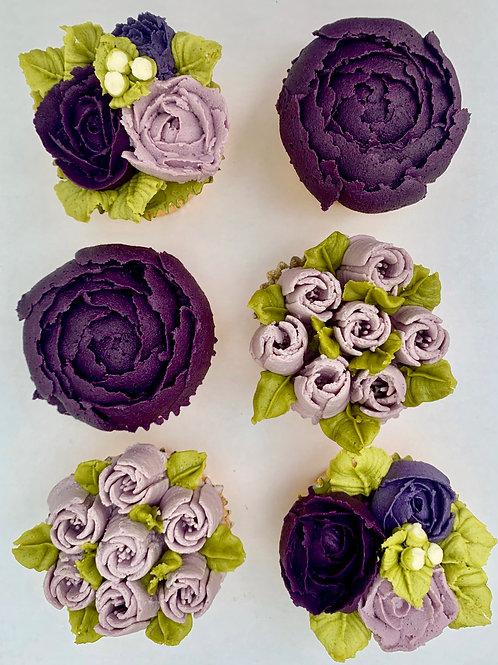 Gluten free Floral Cupcake Box