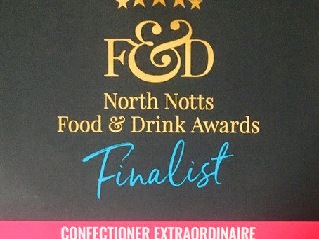 My thoughts on reaching the finals of the North Notts Food and Drinks Awards 2019