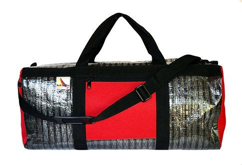 Black Mylar w/ Red Pockets and Black Webbing